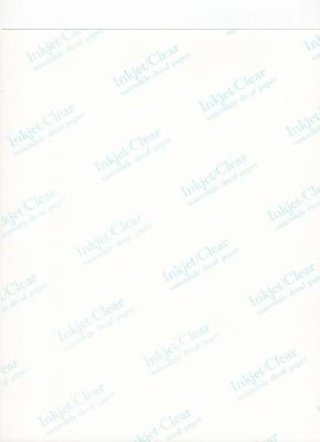Feuille décalcomanie transparente vierge jet d'encre
